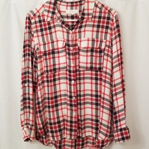 Flannel Button Top